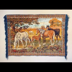 Vintage woven wall tapestry